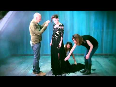 Kristen Stewart - Italian Vogue photo shoot - behind the scenes