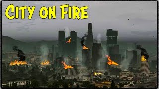 GTA 5 Zombie Apocalypse Ep. 6 - THE CITY ON FIRE!