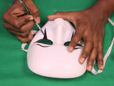 How To Make A Halloween Mask Youtube