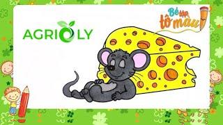 Bé Tập Tô Màu | Bé Tập Vẽ Và Tô Màu Con Chuột