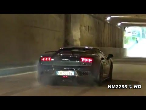 Lamborghini Gallardo Superleggera Tunnel LAUNCH CONTROL!!