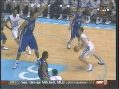 Tyler Hansbrough Dunk on 7'7 Kenny George Video
