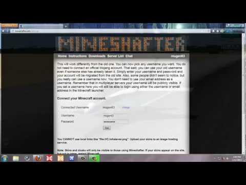 How to make a minecraft account in mineshafter (without mojang account)