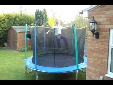 Getting a little surprise on the trampoline (Oops TV accepted submission)