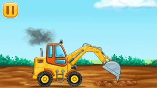 Excavator monster truck for baby game