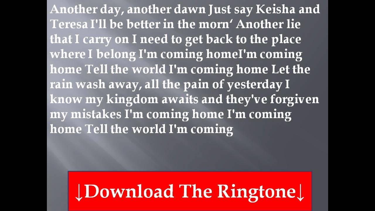 Coming Home (Diddy – Dirty Money song) - Wikipedia