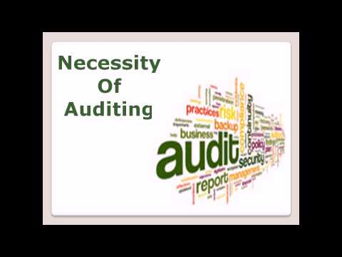 Auditing course in hindi and urdu necessity of auditing lecture 5