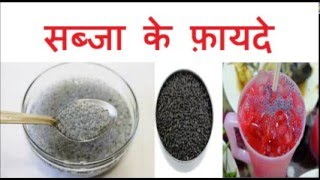 सब्जा के फ़ायदे | Benefits Of Sabja Seeds/Sweet Basil Seeds for weight loss