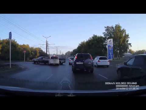 Авария в Барнауле 22 09 2014