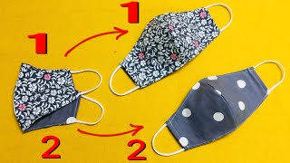 How to sew double-sided masks with filter pocket