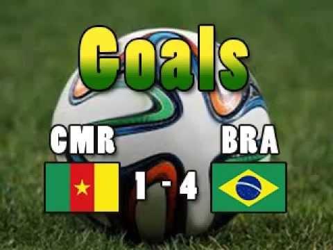 Goals CMRBRA Cameroon 1 Brazil 4 NEYMAR MATIP FRED CM2014 Wordcup2014