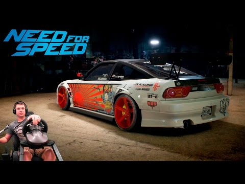 Дрифт Японка Nissan 180sx Type X '96 - Need For Speed 2016 на руле Fanatec Porsche 911 GT2
