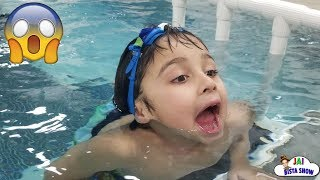Kid swimming in the pool | Family Fun Pool Time | Kids swimming lessons | #JaiBistaShow