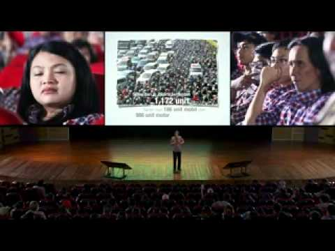 Presentasi Jokowi di depan Relawan Jakarta Baru