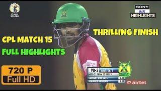 CPL T20 2017- Match 15 - Guyana Amazon Warriors vs Jamaica Tallawahs Full Highlights 720 HD