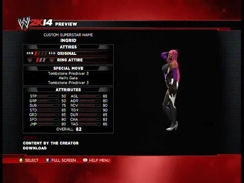 Wwe 2k14 Hell Knight Ingrid video