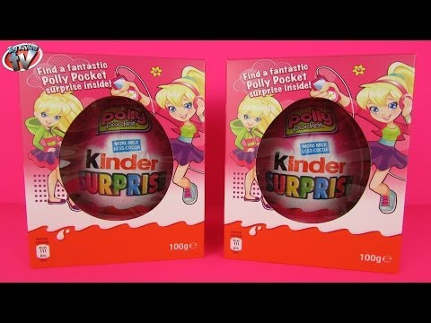 Kinder Surprise Polly Pocket Huge Size Easter Eggs x2 Unboxing. Fun Mystery Opening Chocolate