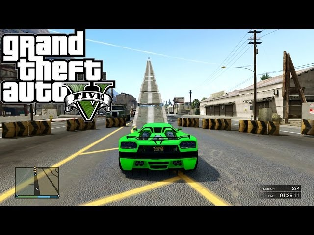 GTA 5 ONLINE As High As Cheech And Chong ( Fun Custom Race ) GTA V MULTIPLAYER
