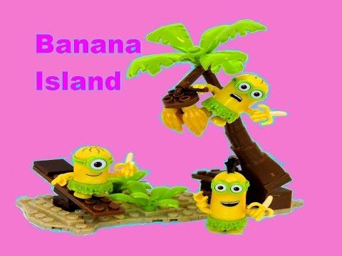 Minions Banana Island Playset Mega Bloks A Movie Exclusive - itsplaytime612