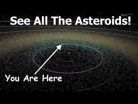 Así se vería el cielo con todos los asteroides