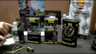 Jabra headphones demoed by Ironman Craig Alexander at CES 2012