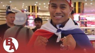 Filipino immigrant boxer John Leo Dato living the dream, as Pacquiao-Thurman undercard