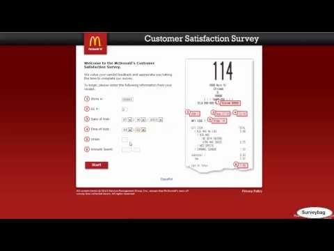 www.mcdonaldsfeedback.com McDonald's survey video by Surveybag