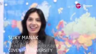 Suky Manak, from Coventry University, Course Director of BA International Business Management