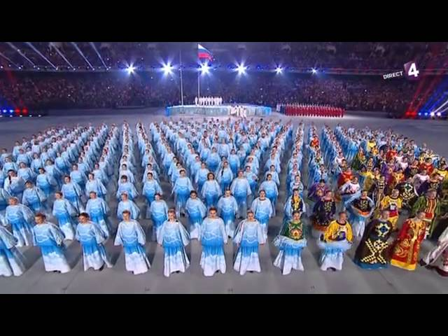 hymne Russe JO 2014 paralympique Sotchi Sochi Со́чи Россия гимн anthem Russia Russian