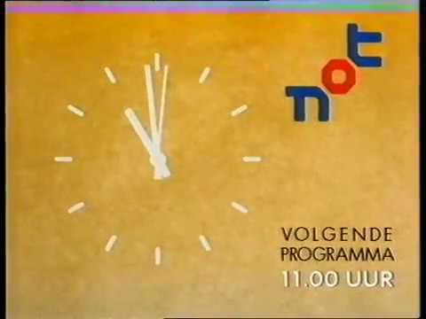 NOT - pauze klok, kleuterbumper en aankondiging Jur Raatjes (13-10-1993)