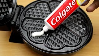 EXPERIMENT WAFFLE IRON vs TOOTHPASTE