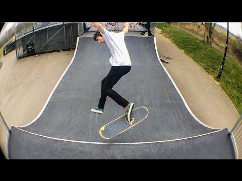Slow Motion Skateboarding: Triple Dolphin Flip Flat - Ellis Frost