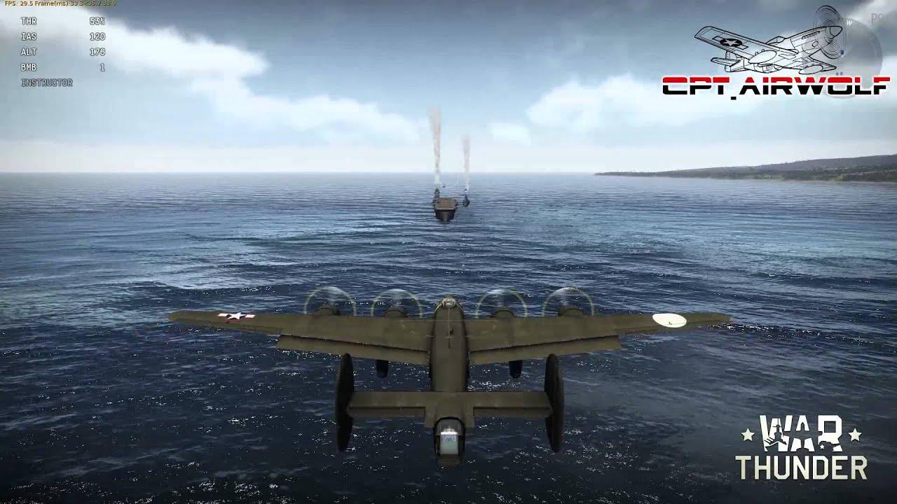 War Thunder - Landing B24 Liberator on a Carrier. - YouTube