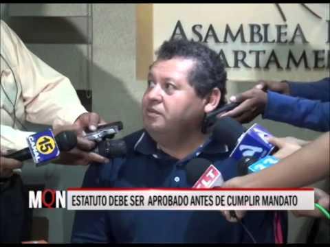 04/03/2015:19:24 ESTATUTO DEBE SER APROBADO ANTES DE CUMPLIR MANDATO