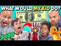 Parents Try Guessing What Their Kid Will Do With $100 | What Would My Kid Do? (React) thumbnail