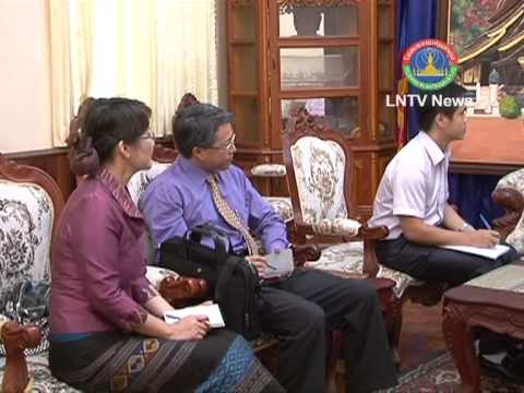 Lao NEWS on LNTV-MICT Minister receives the Chinese delegation
