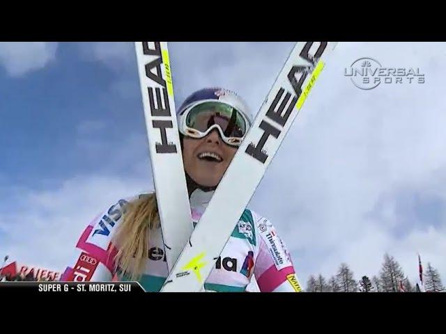 Lindsey Vonn wins St. Moritz Super G - Universal Sports