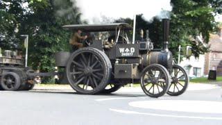 Amazing GDSF WW1 Steam Convoy - 'Gigantic' bounces around the roundabout!
