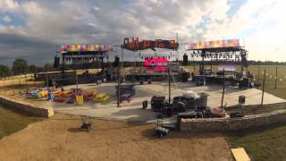 event set up time lapse- video by Ilios Lighting and Design