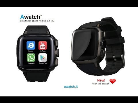 """Awatch"" & ""Awatch 2"" both Android 4.4 Smart watch phone 3G"