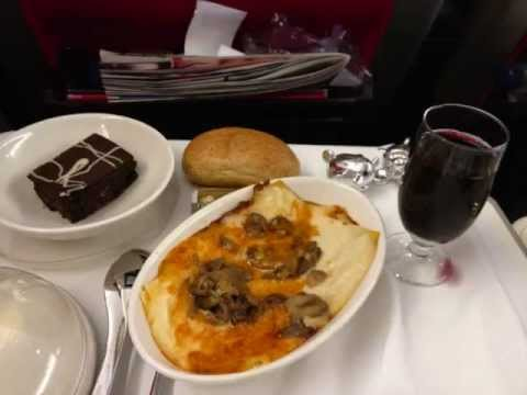 Tour Virgin Atlantic's Premium Economy Purple seats London Heathrow to New York JFK return 2013