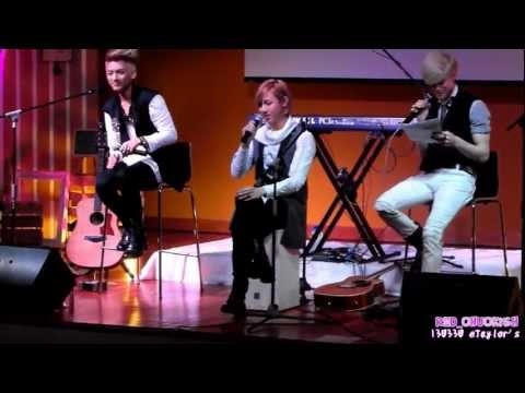 [HD FANCAM] 130330 LUNAFLY singing Indonesia song 'Cantik' by Kahitna