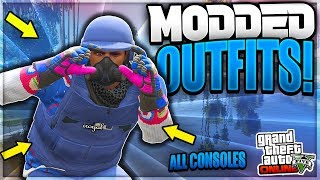 *NEW ACTUALLY MODDED OUTFITS!* MODDED FREEMODE OUTFITS! (GTA 5 MODDED OUTFITS)