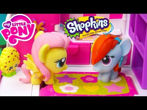 MLP Fash'ems Rainbow Dash Fluttershy Shopkins ROAD TRIP RV Camper My Little Pony Video Series Part 4