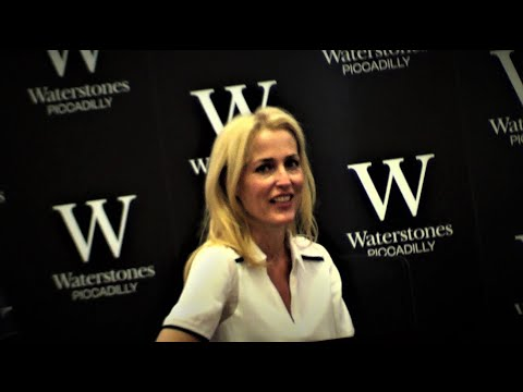 GILLIAN ANDERSON signs her novel for NEUROFIBROMATOSIS charity @ Waterstones Piccadilly, London