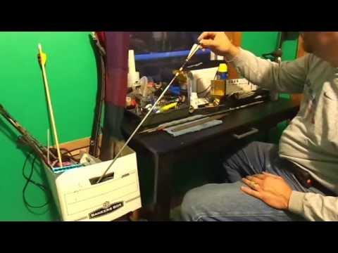 how to cut carbon arrow shafts at home EZ