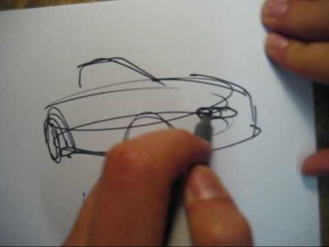 Design Sketching - How To Draw A Car Vol. 4