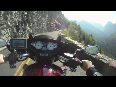 Motorcycle ride through Glacier National Park - Going to the Sun Road