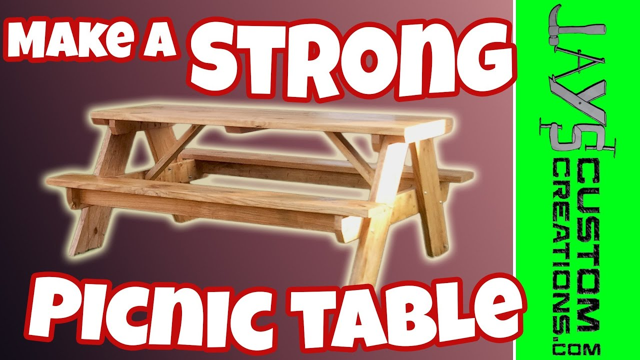 How To Build A Strong Picnic Table Free Plans 084
