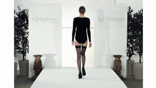 Tightsplease Pretty Polly Nylon Gloss Stockings on Catwalk
